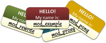 Module name tags